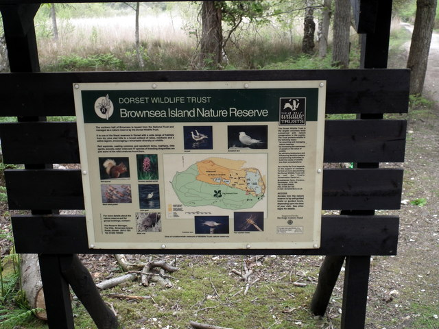 Brownsea Island Nature Reserve - information board