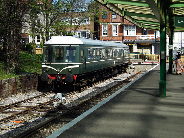 A 'bubble-car' at Swanage railway station