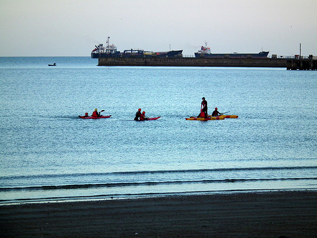 Evening water sports at Weymouth