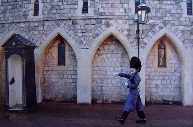 Windsor castle, mounting the guard