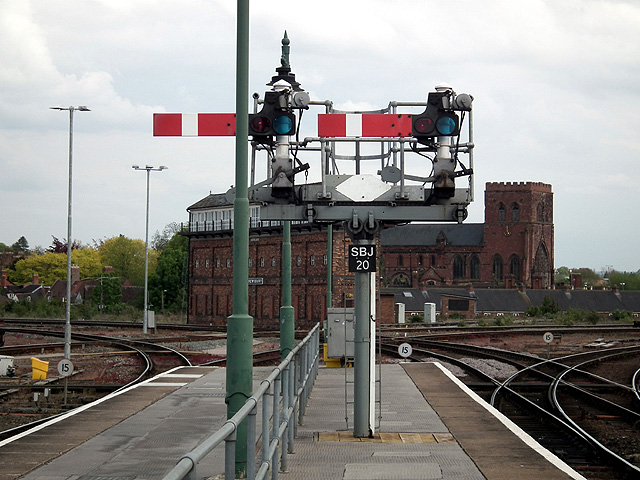 Semaphore signals at Shrewsbury