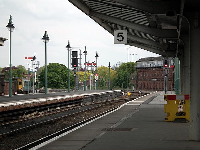 Bay platforms 5 and 6 at Shrewsbury station