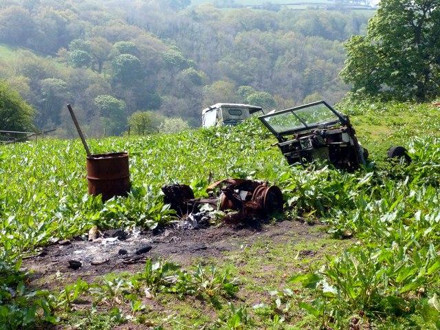 Land Rover graveyard