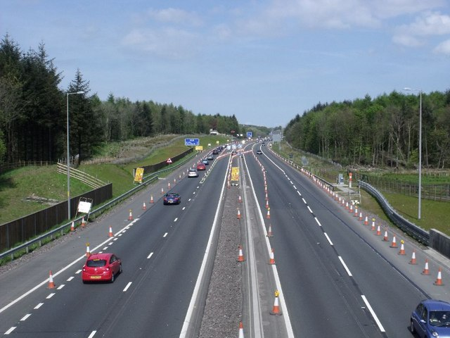 Cumbernauld, M80 motorway