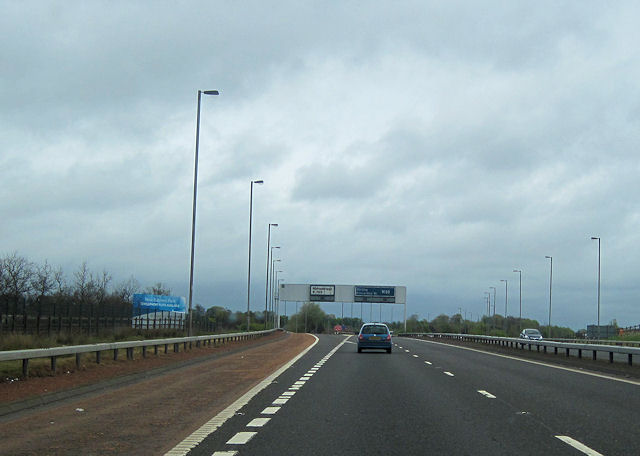 Junction 2 M80 north
