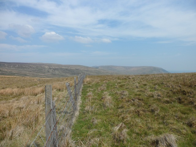 Fence crossing the Campsie Fells