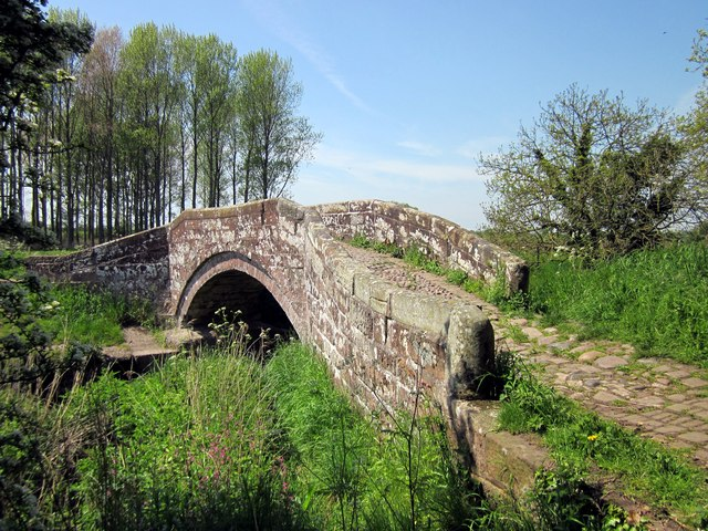 Packhorse Bridge at Hockenhull Platts