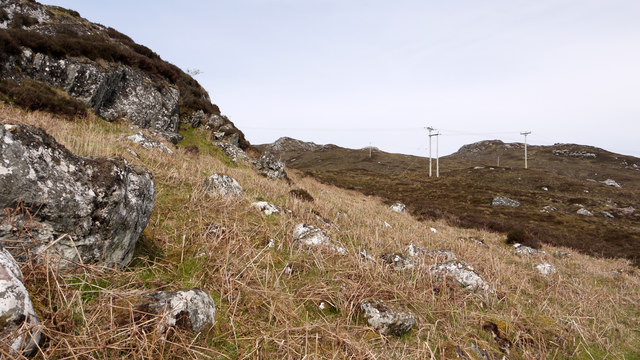 Boulders and rocks south-east of Croft Hill