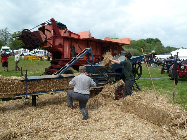 Devon County Show - threshing and baling