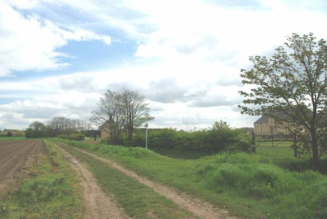 Bridleway and Modern Mansion