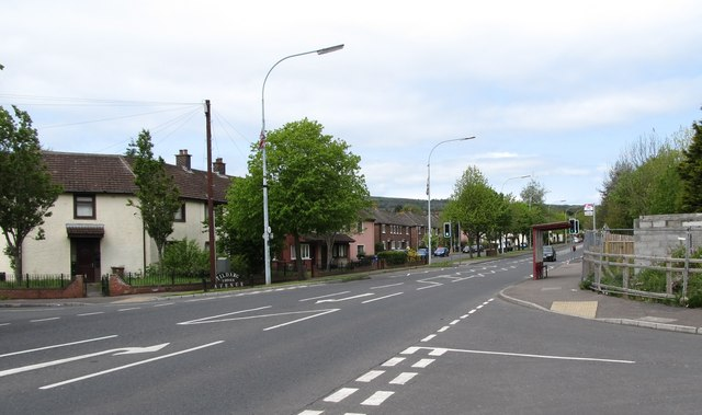 Black's Road at the junction with Trenchard