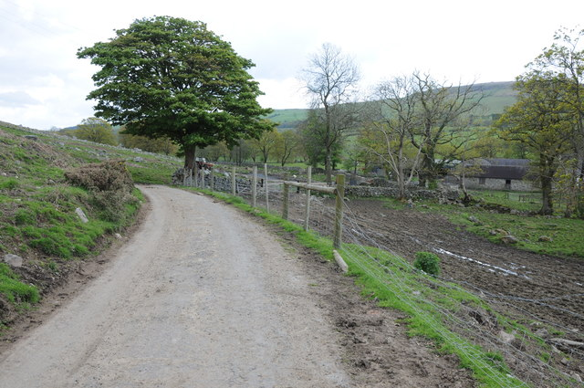 Farm road near Crug Glas