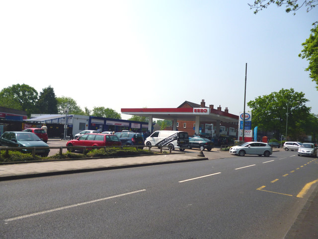 Bromley:  Esso filling station and Tesco Extra, Westmoreland Road