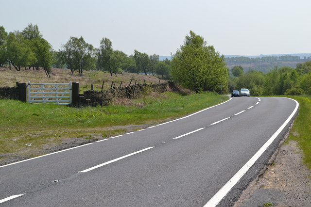 View across the A621 near Ramsley Lodge