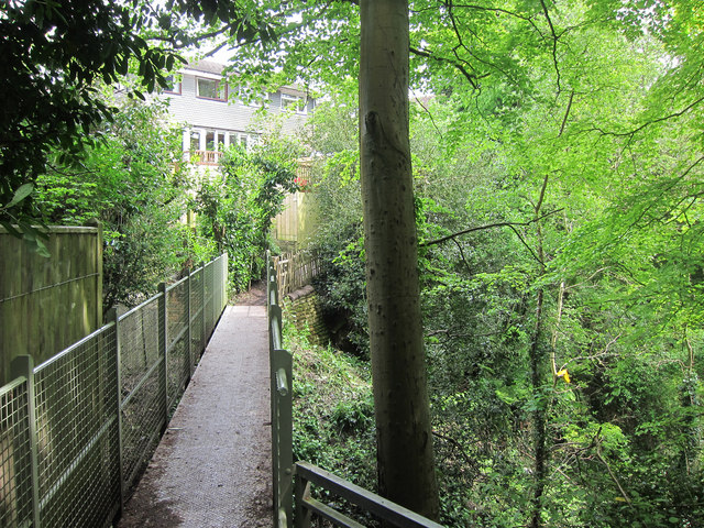 Footbridge over Old Roar Gill