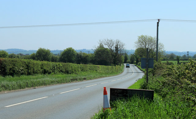 2012 : A371 at the end of Bagborough Lane