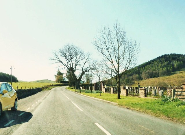 Passing the cemetery on Newton Stewart Road