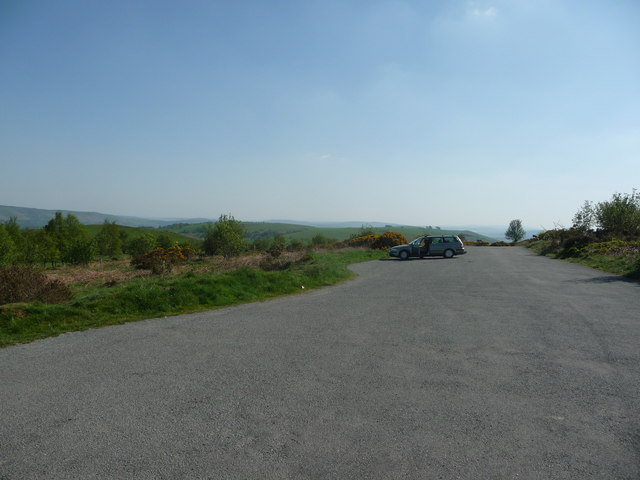 Car park at the Stiperstones NNR
