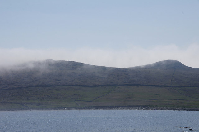 Haar creeping over the Heogs