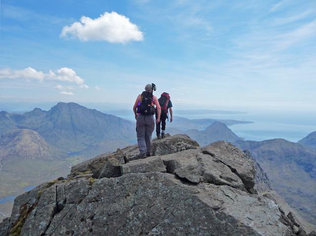 Leaving the summit - Sgùrr nan Gillean