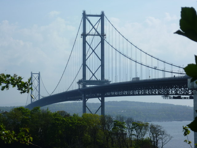The Forth Road Bridge from North Queensferry