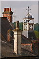 TQ2550 : Chimneys and a clock by Ian Capper