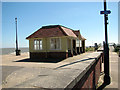 TM2933 : Pavilion shelter on the Esplanade, Felixstowe by Evelyn Simak