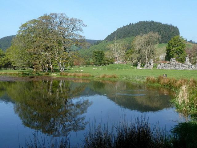 Fishing lake, Abbeycwmhir
