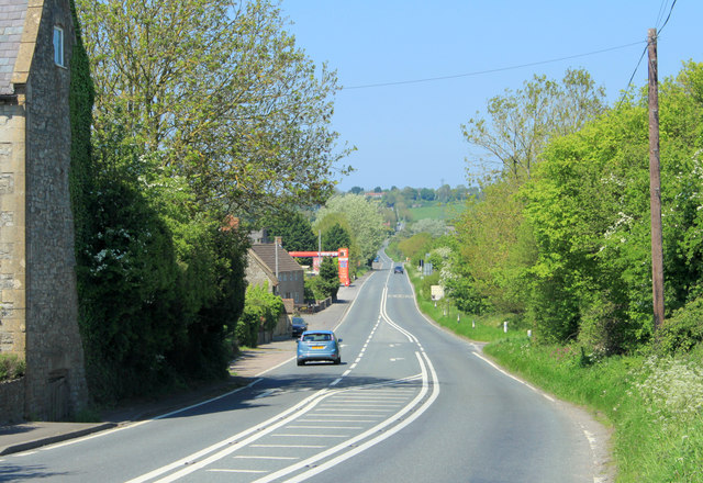 2012 : A37 Fosse Way looking north toward Shepton Mallet