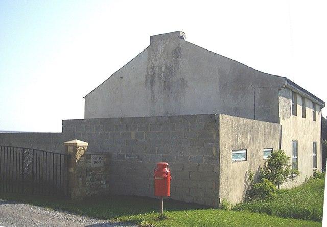 A milk-churn letterbox