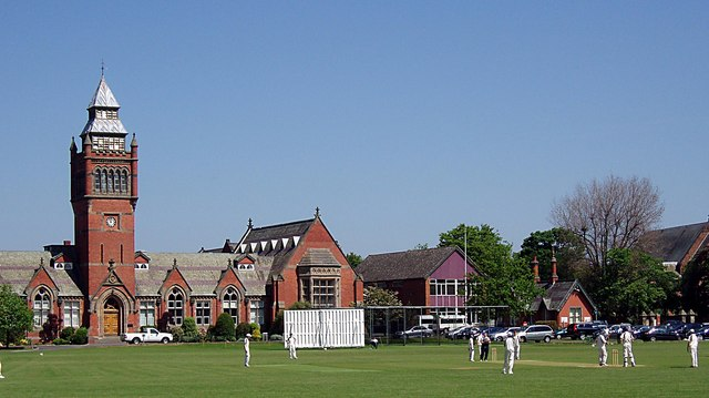 Cricket match at Merchant Taylors School