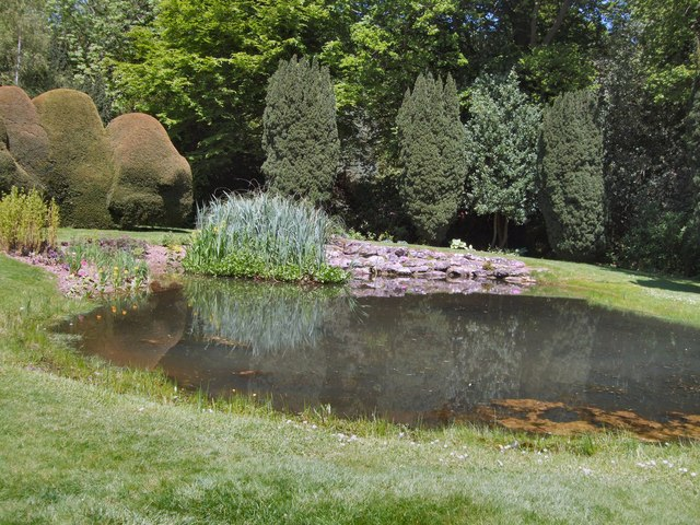 Pond in doddington place gardens paul gillett for Garden pond kent