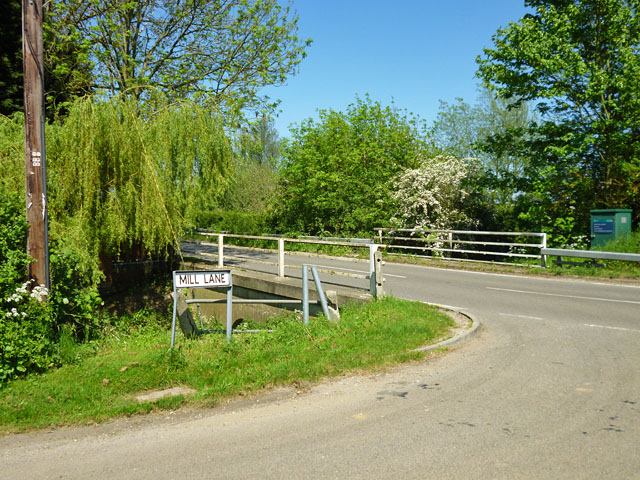 Bridge over mill stream, Shonks Mill Road
