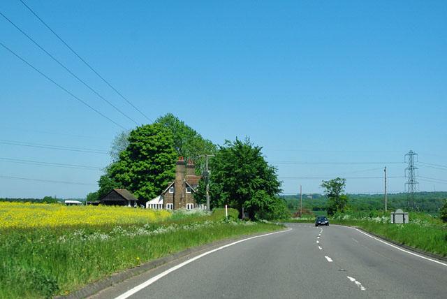 A113 towards Ongar