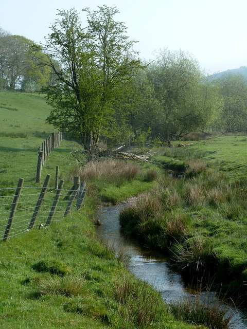 Infant River Marteg from the Brondre Fawr farm track