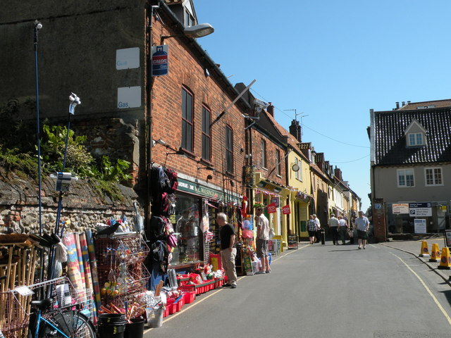 Looking up Staithe Street