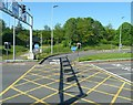 SJ9091 : Portwood Bus Lane by Gerald England