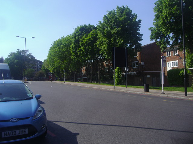 The southern end of Tulse Hill