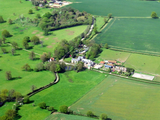 Frogmore from the air
