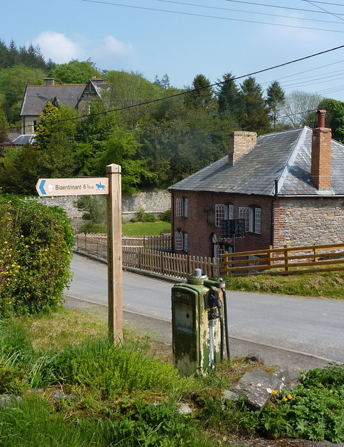 Village scene, Abbeycwmhir