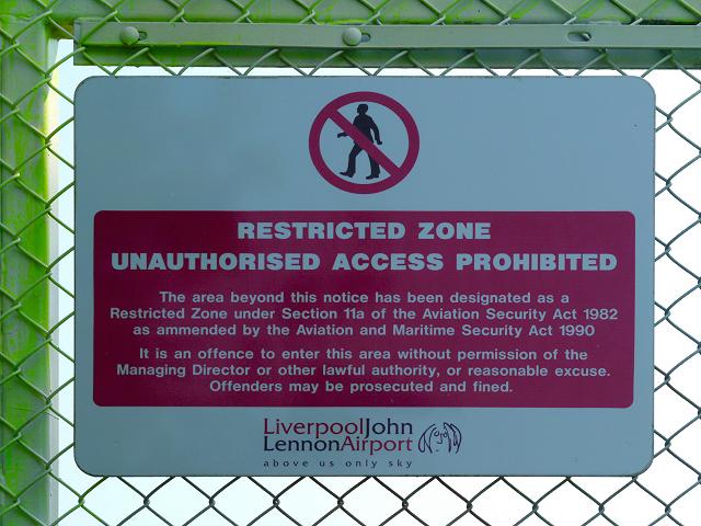 Restricted Zone Unauthorised Access Prohibited.