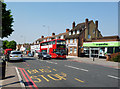 TQ3665 : Shirley:  Bus on Wickham Road by Dr Neil Clifton