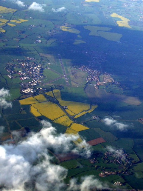 Cranfield Airport from the air