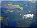 SP9739 : Brogborough Lake and Millbrook vehicle testing ground from the air by Thomas Nugent
