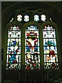 SU0268 : Stained glass window, Church of St Mary, Calstone Wellington by Brian Robert Marshall