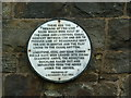 Photo of Leeds and Liverpool Canal Company white plaque