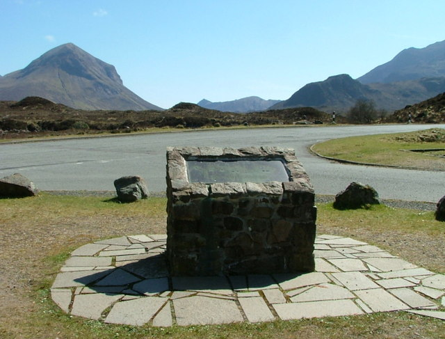 Information plaque at Sligachan