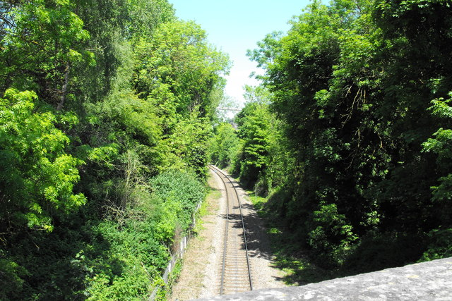 The railway to Portbury Dock