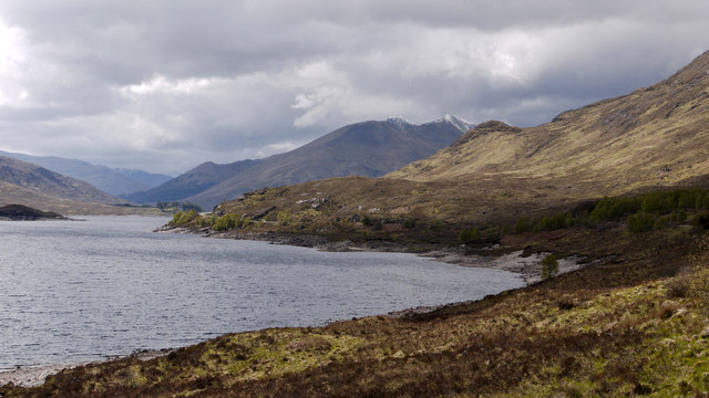 North shore of Loch Cluanie