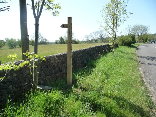 Public footpath sign, Blackbrook